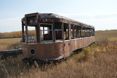 ... sits at the Saskatchewan Railway Museum in 2008. © Wikimedia Commons